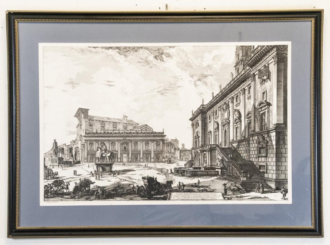 Cavalier Piranesi Piazza del Campidoglio Engraving