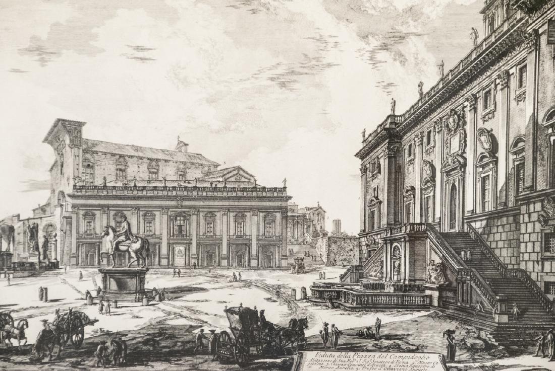 Cavalier Piranesi Piazza del Campidoglio Engraving - 2