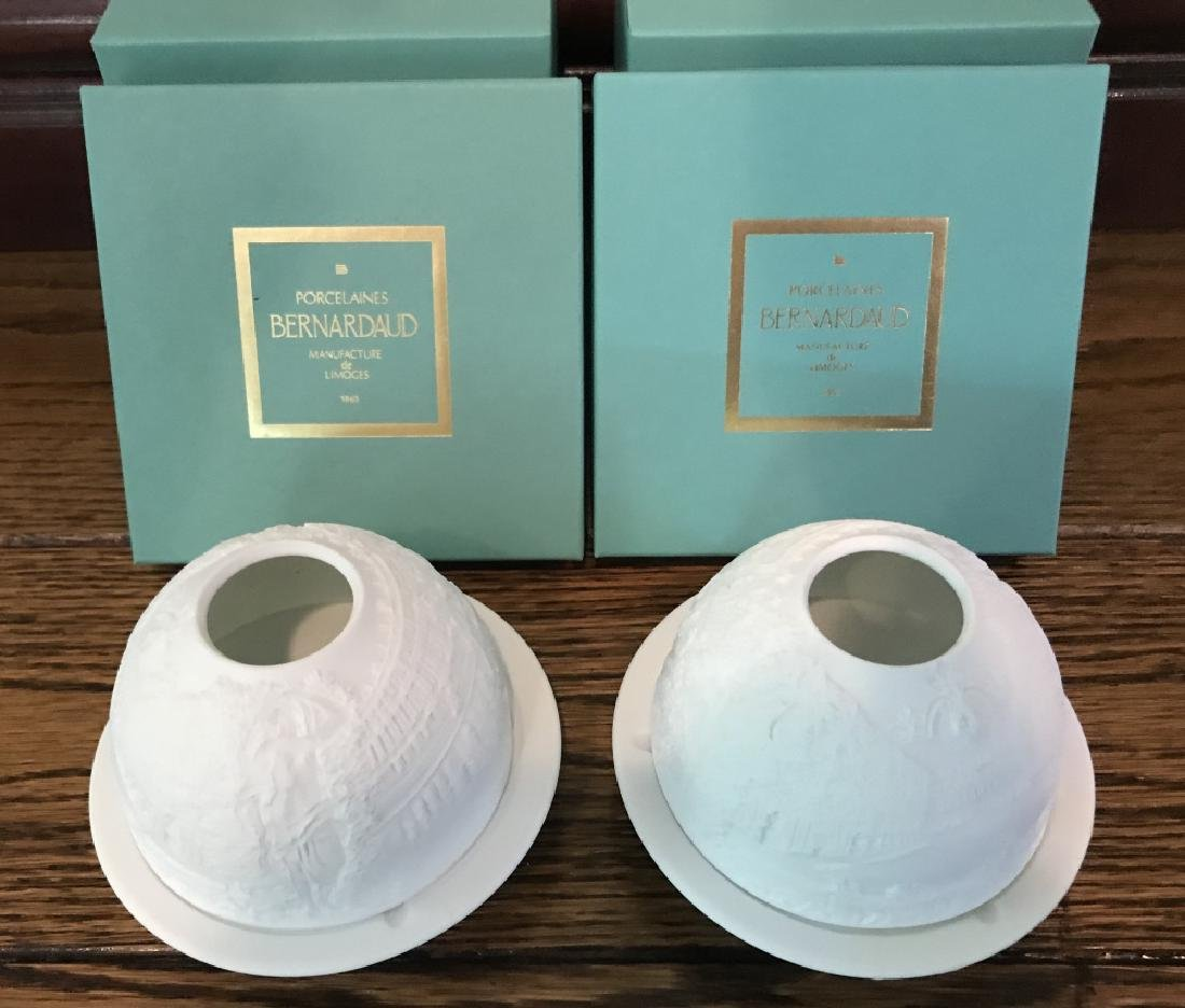 French Bisque Candle Votives by Bernardaud