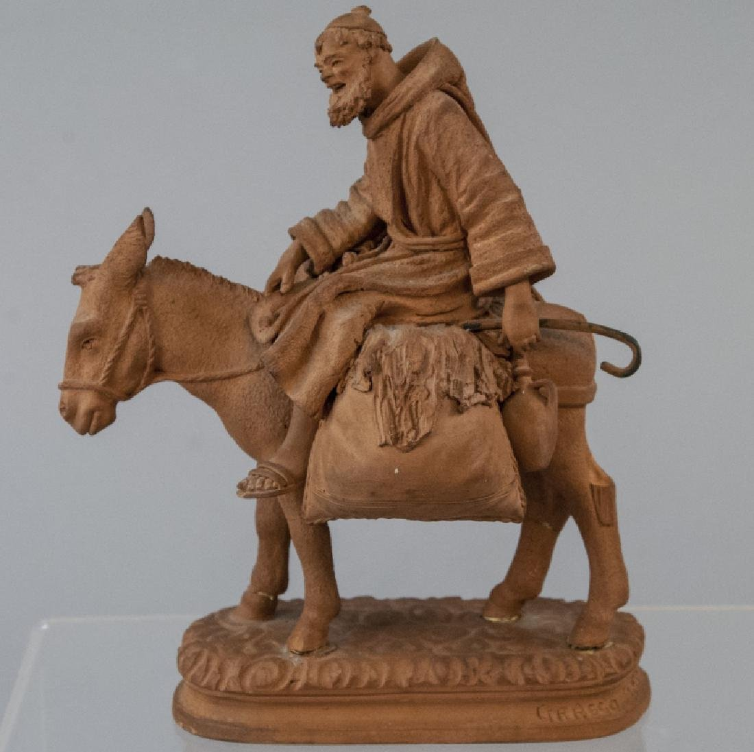 Signed Grasso Handmade Terracotta Statue