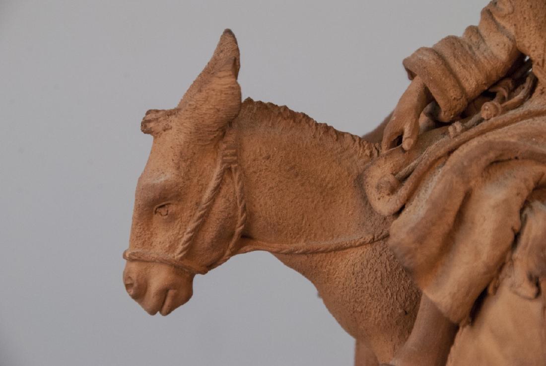 Signed Grasso Handmade Terracotta Statue - 5
