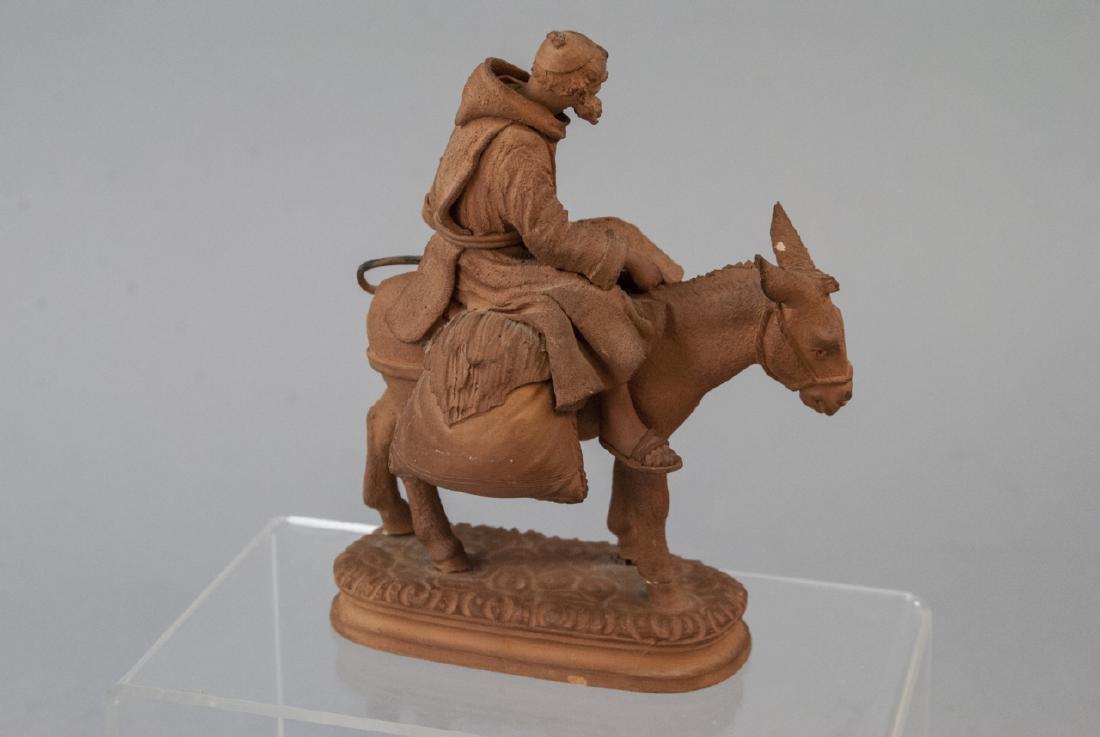Signed Grasso Handmade Terracotta Statue - 7
