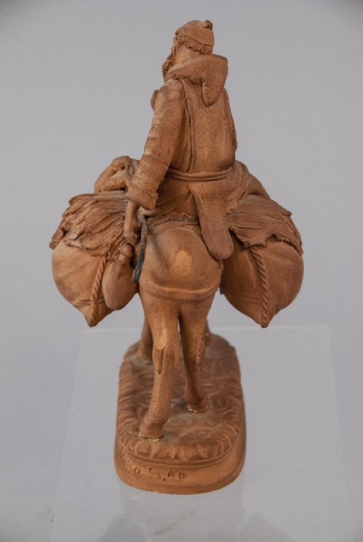 Signed Grasso Handmade Terracotta Statue - 8