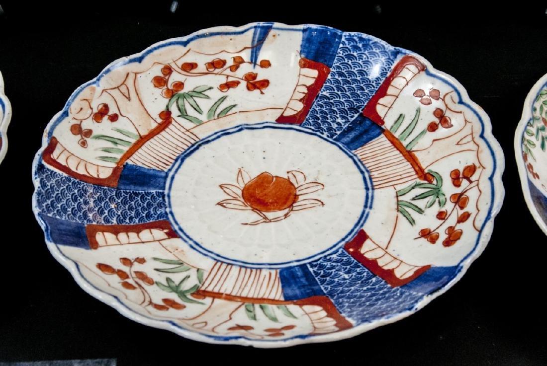 6 19th C Japanese Imari Porcelain Plates / Dishes - 4