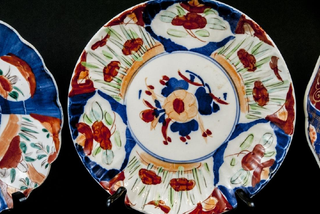 6 19th C Japanese Imari Porcelain Plates / Dishes - 8