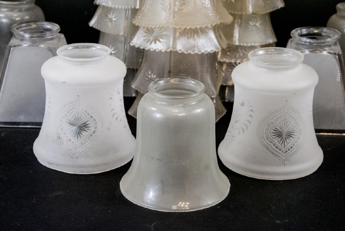 Lot of Vintage Glass Lamp Shades - 3