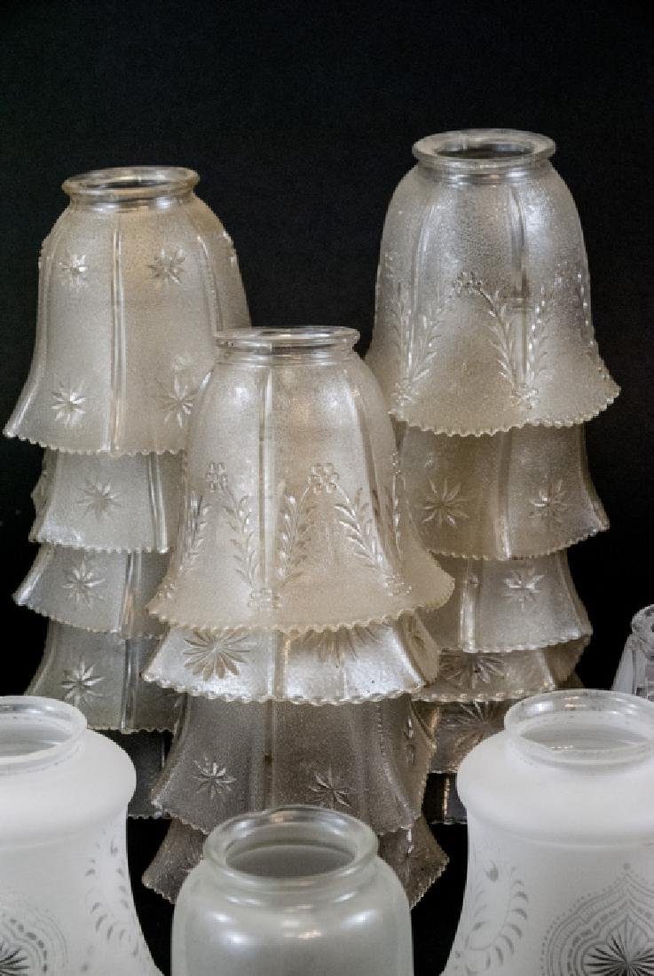 Lot of Vintage Glass Lamp Shades - 5
