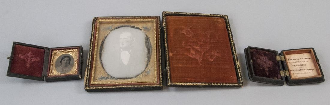 Antique Daguerreotype Gutta Percha & Leather Cases