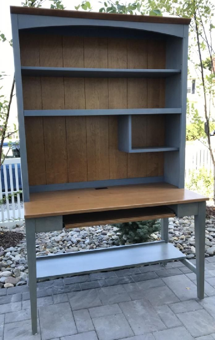Ethan Allen French Country Writing Desk & Cabinet
