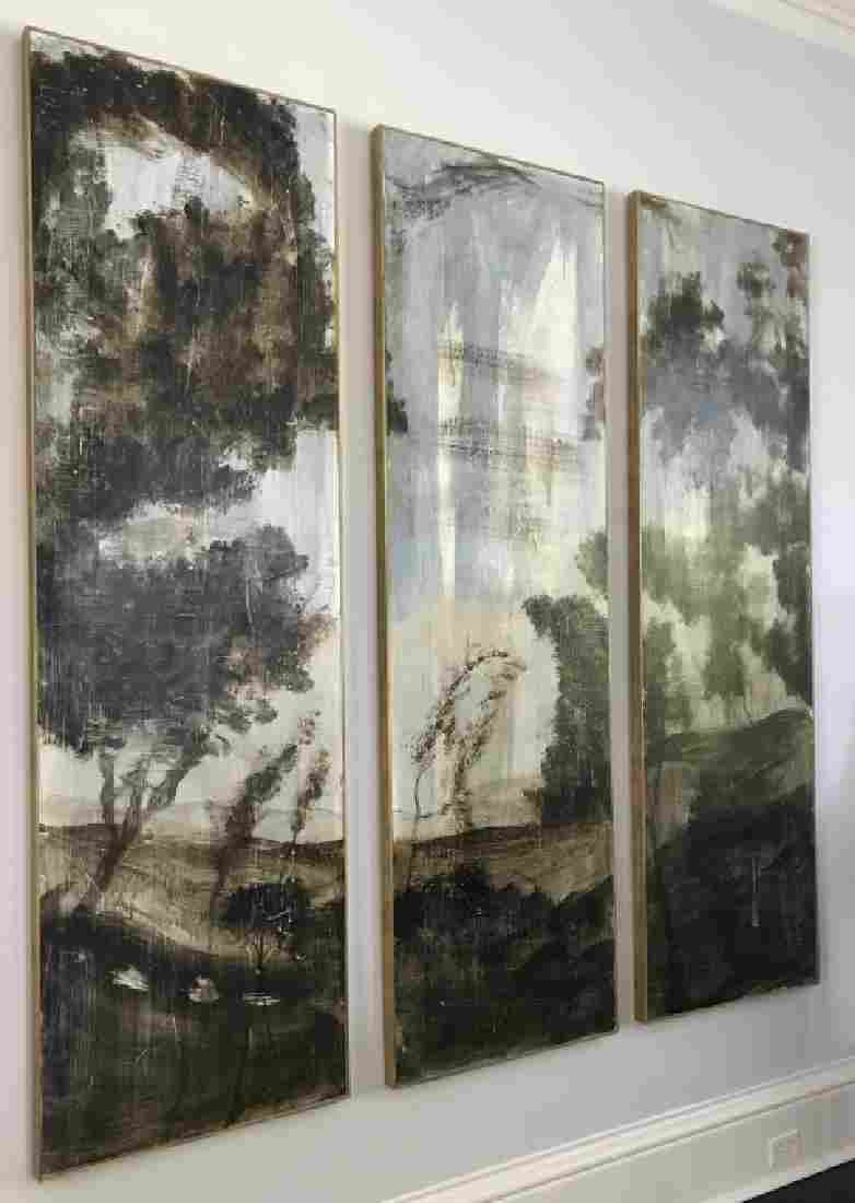 3 Contemporary Oil on Board Landscape Paintings
