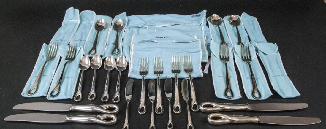 Elsa Peretti Tiffany Sterling Silver Flatware Set - 6