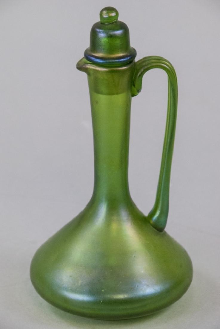 Antique Favrile Art Glass Claret Pitcher Decanter
