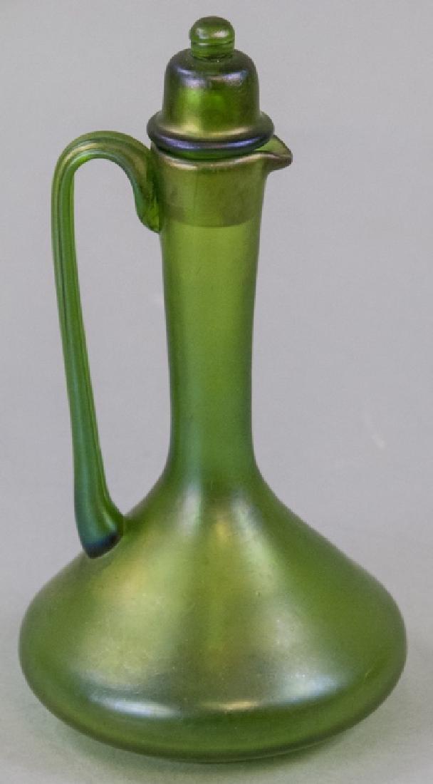 Antique Favrile Art Glass Claret Pitcher Decanter - 2