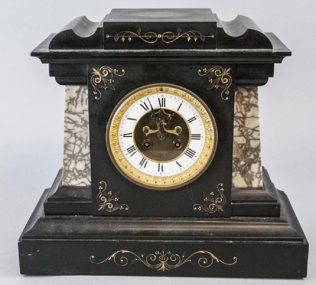 Antique 19th C Marble Clock by Marti et Cie