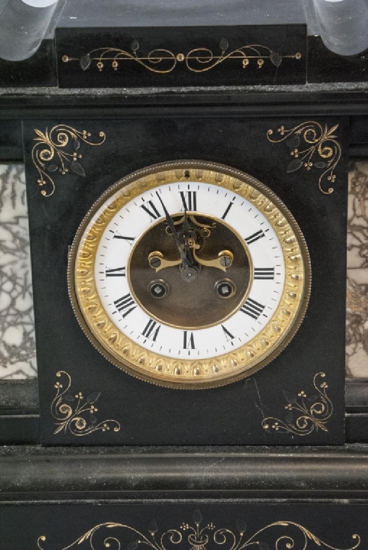 Antique 19th C Marble Clock by Marti et Cie - 2