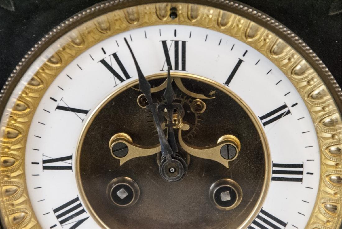 Antique 19th C Marble Clock by Marti et Cie - 3