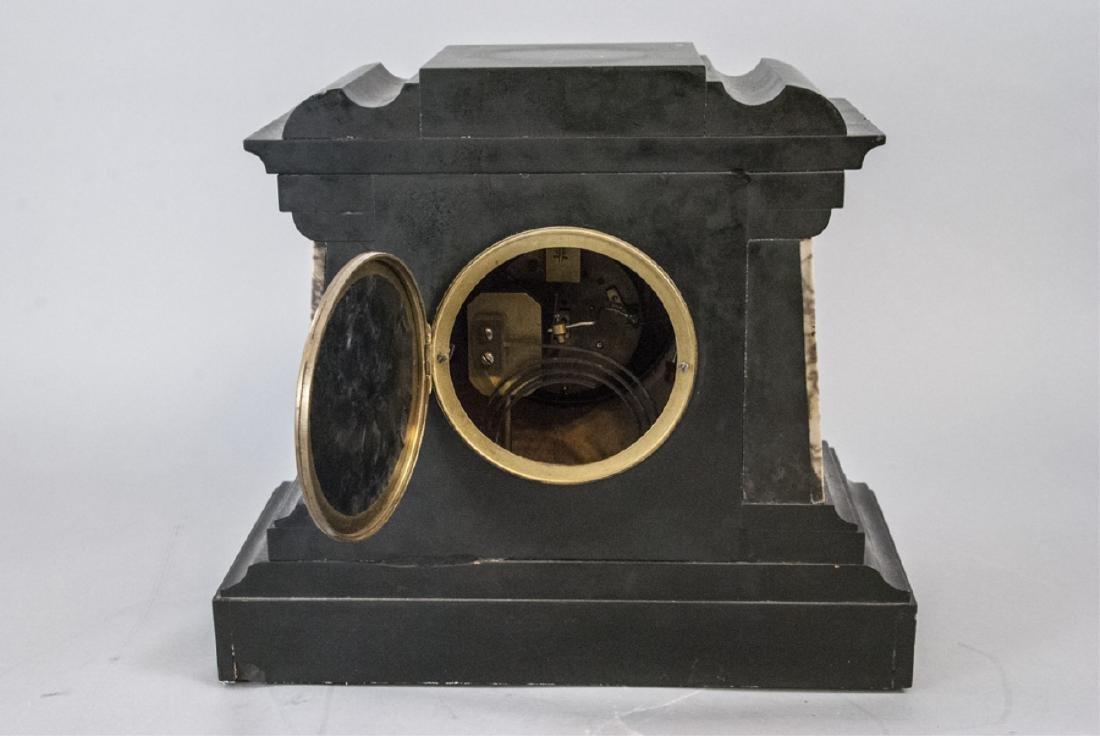 Antique 19th C Marble Clock by Marti et Cie - 4