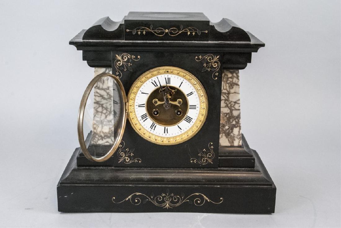 Antique 19th C Marble Clock by Marti et Cie - 7