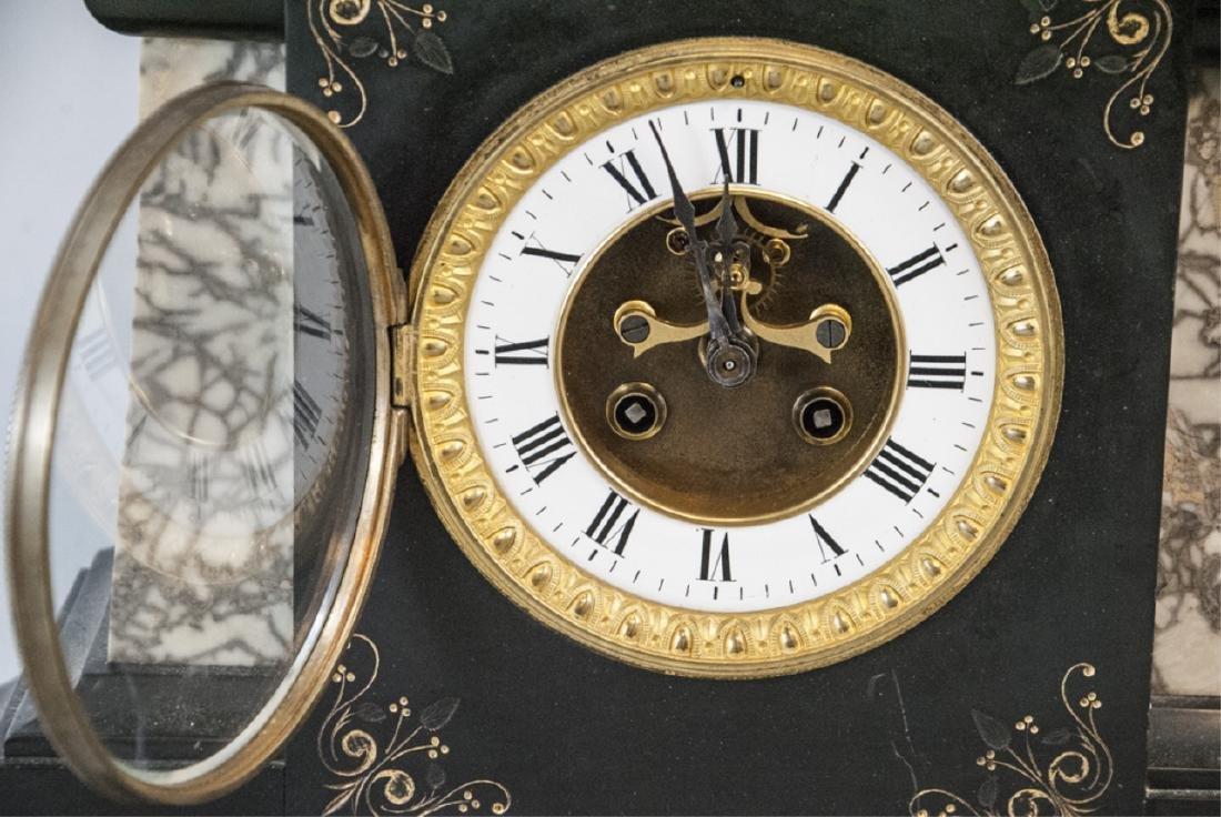 Antique 19th C Marble Clock by Marti et Cie - 8