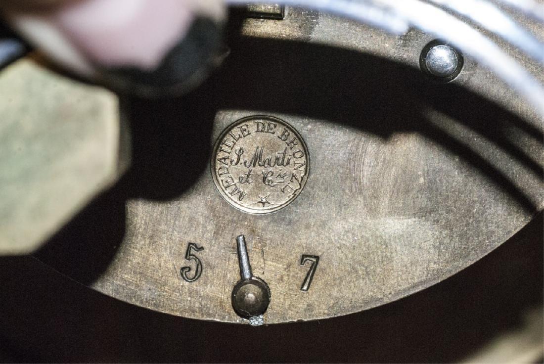 Antique 19th C Marble Clock by Marti et Cie - 9