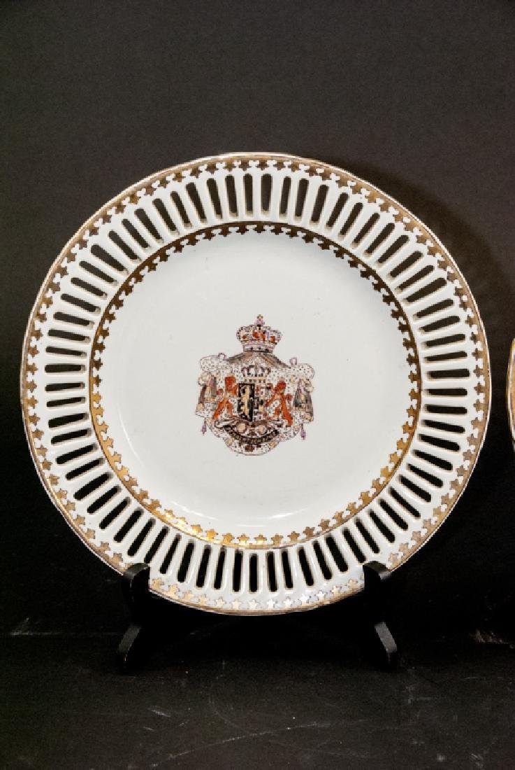 Pair of Chinese Export Porcelain Armorial Plates - 2