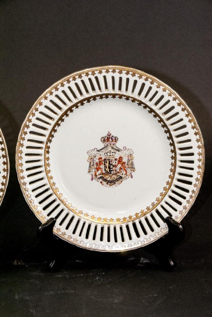 Pair of Chinese Export Porcelain Armorial Plates - 3