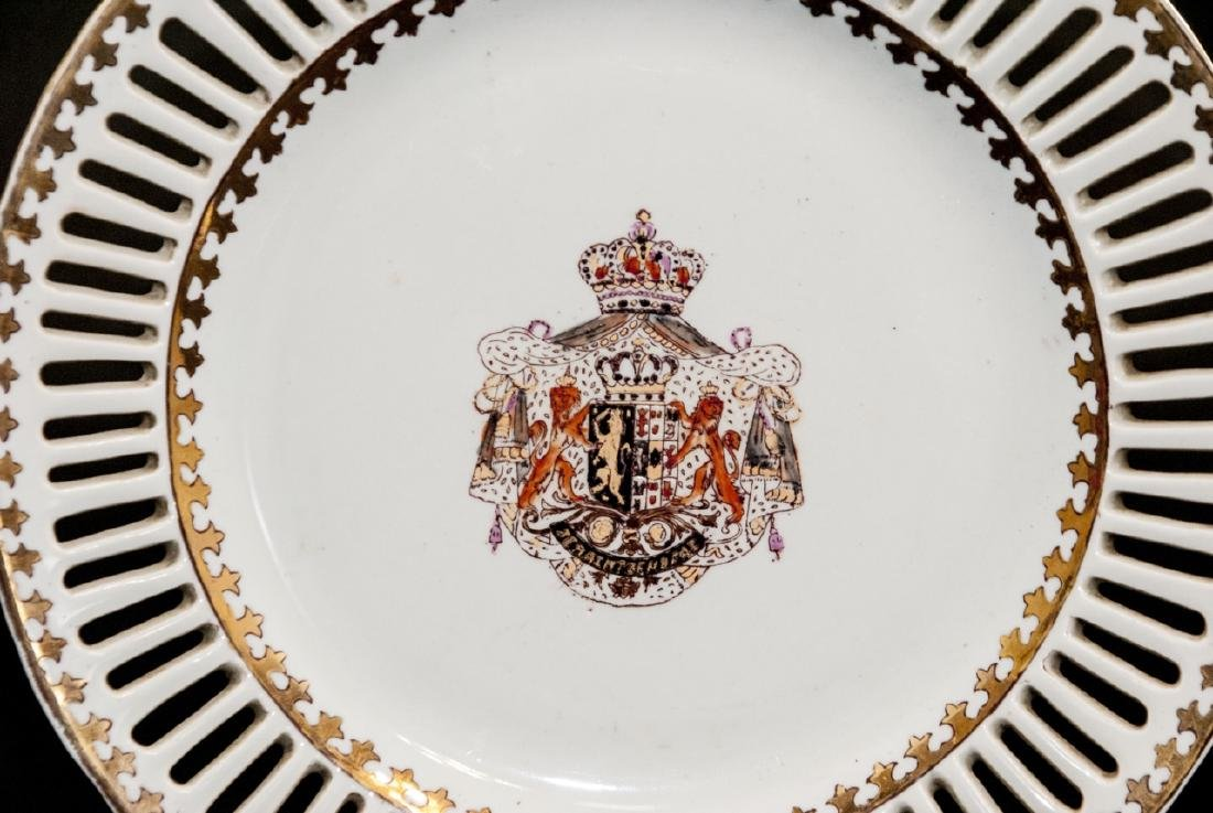Pair of Chinese Export Porcelain Armorial Plates - 4
