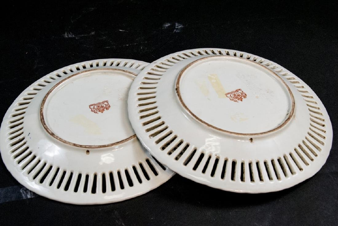 Pair of Chinese Export Porcelain Armorial Plates - 6