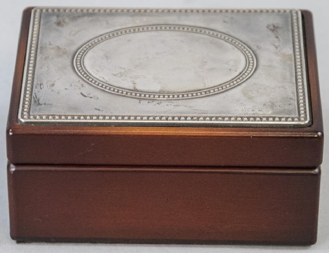 Sterling Silver & Mahogany Jewelry / Trinket Box
