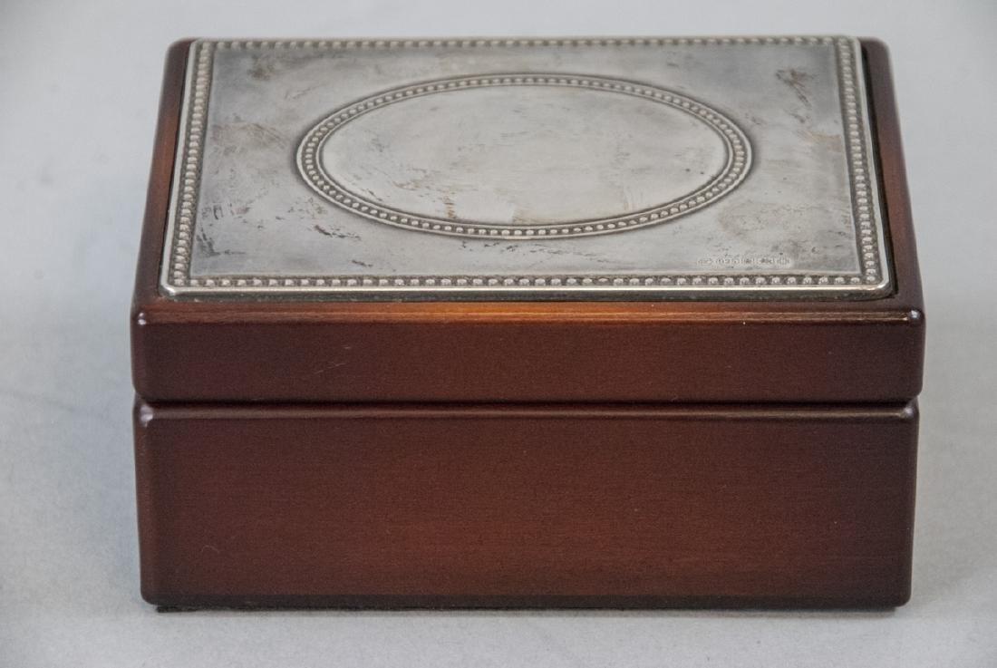 Sterling Silver & Mahogany Jewelry / Trinket Box - 2