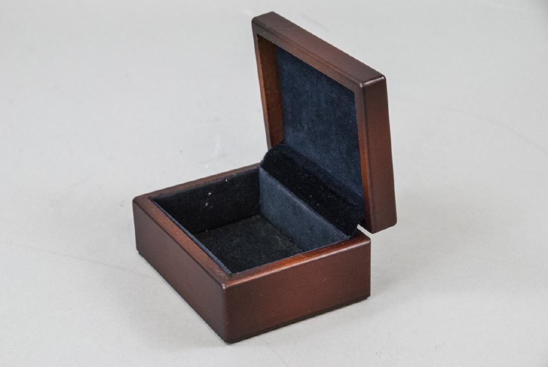 Sterling Silver & Mahogany Jewelry / Trinket Box - 3