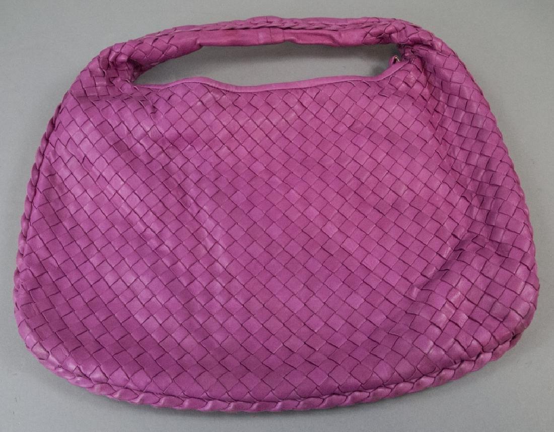 Botega Veneta Pink Woven Leather Purse