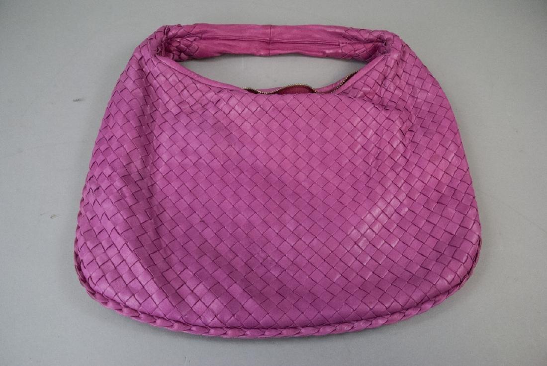Botega Veneta Pink Woven Leather Purse - 2