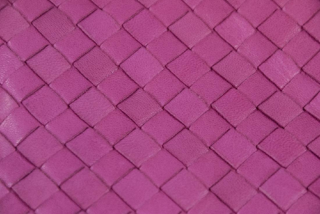 Botega Veneta Pink Woven Leather Purse - 3