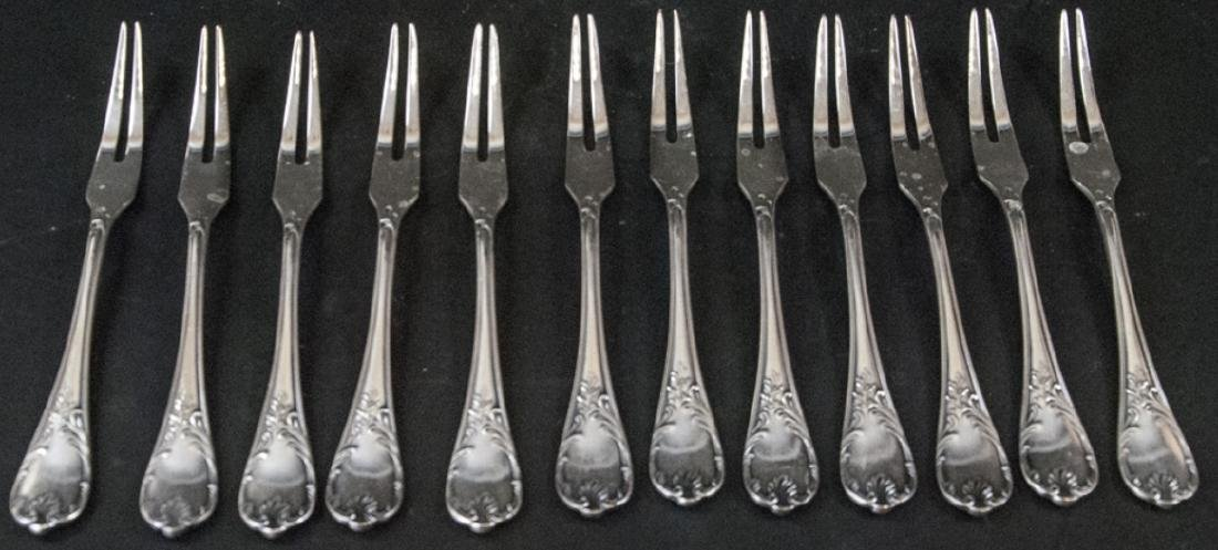 Set of Christofle French Silver Plate Fish Forks