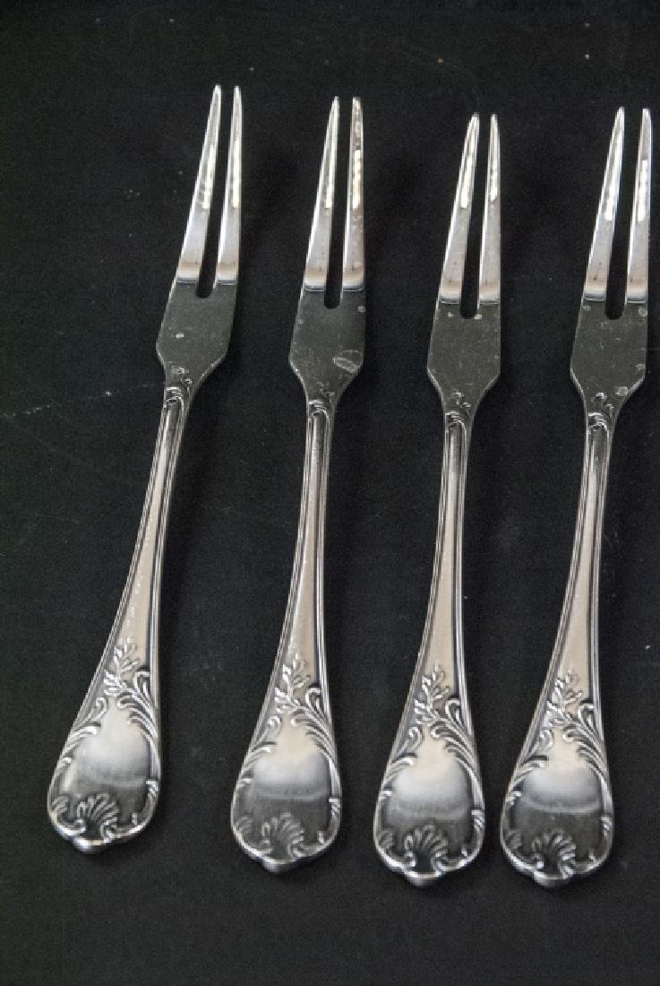 Set of Christofle French Silver Plate Fish Forks - 3
