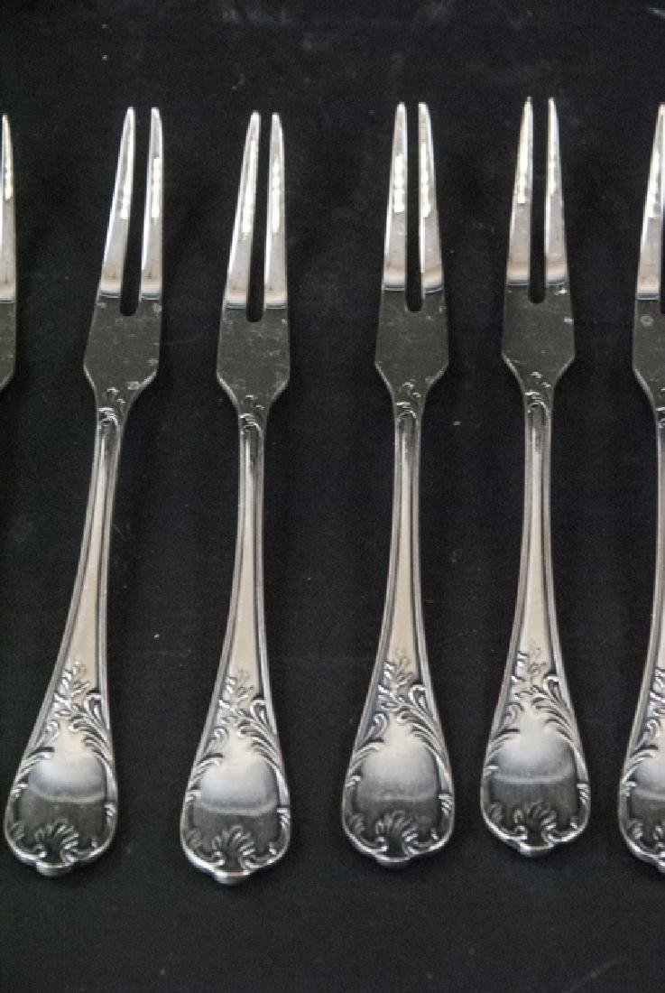 Set of Christofle French Silver Plate Fish Forks - 4