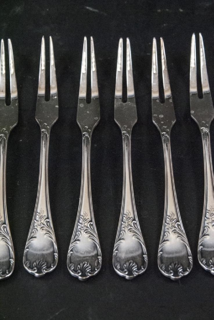 Set of Christofle French Silver Plate Fish Forks - 5