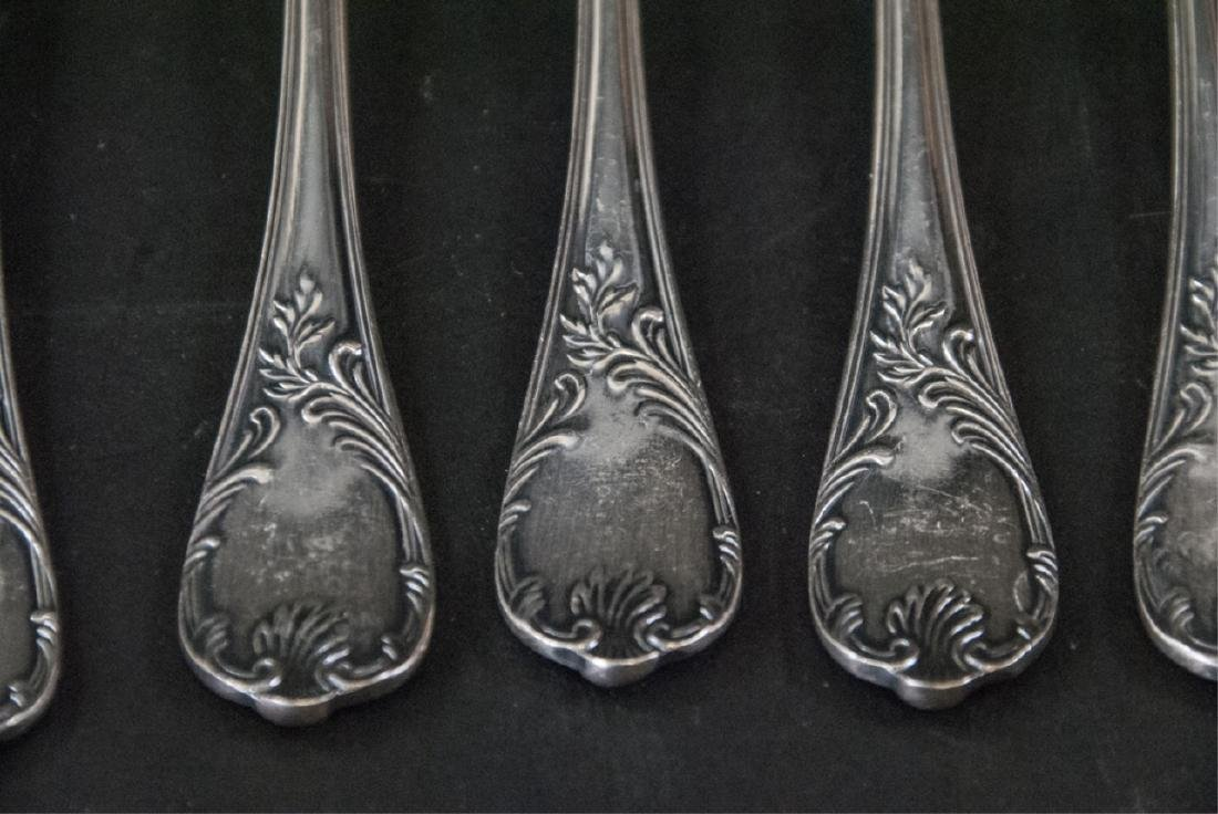 Set of Christofle French Silver Plate Fish Forks - 6