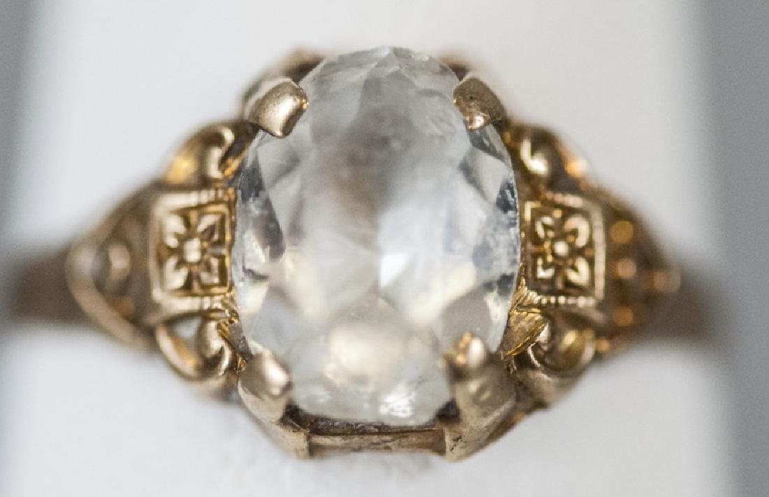 Antique 10kt Yellow Gold Pinky Ring / Childs Ring