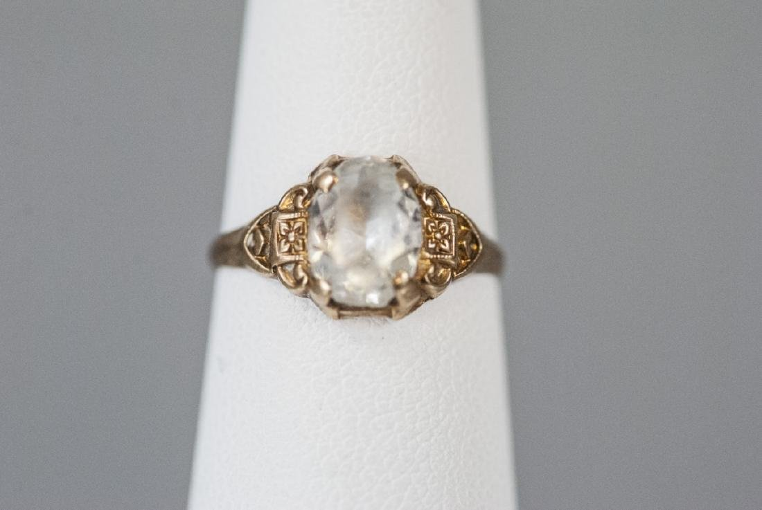 Antique 10kt Yellow Gold Pinky Ring / Childs Ring - 2