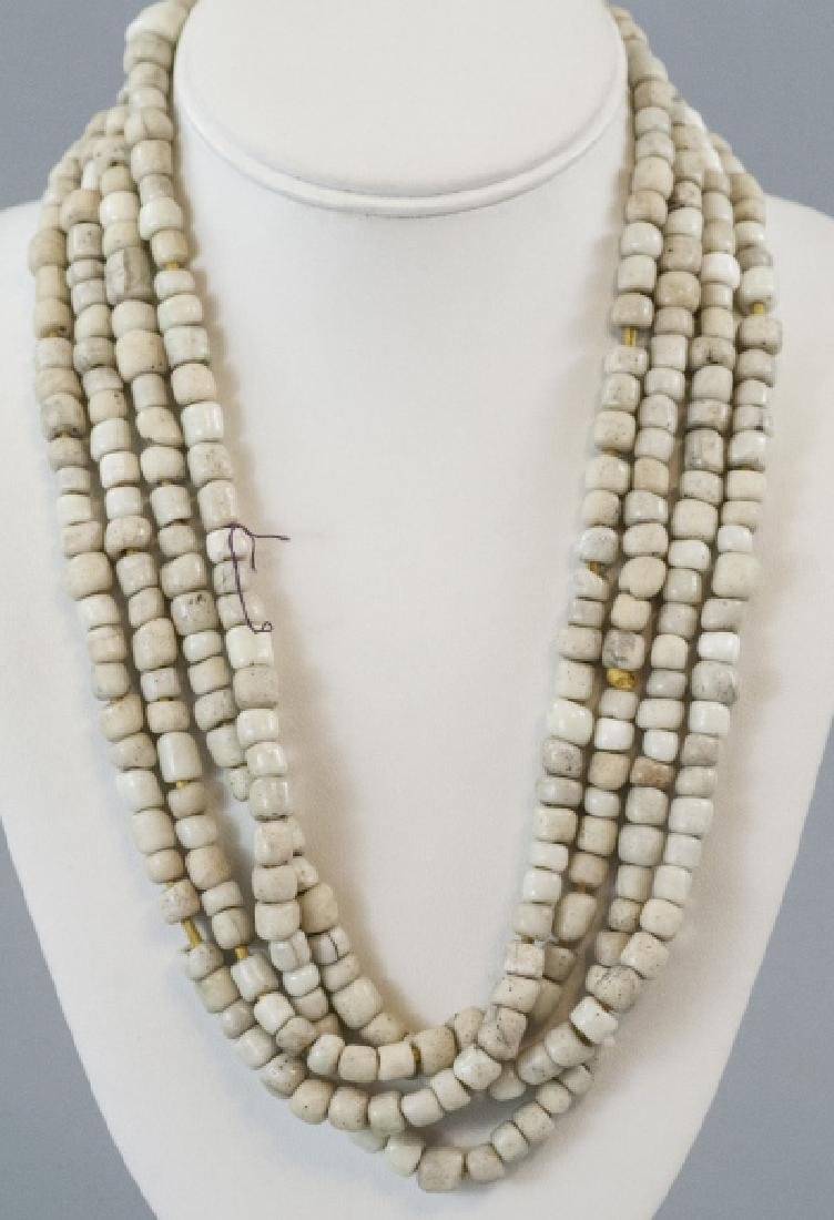 Antique 92 Inch Necklace Strand of Trade Beads