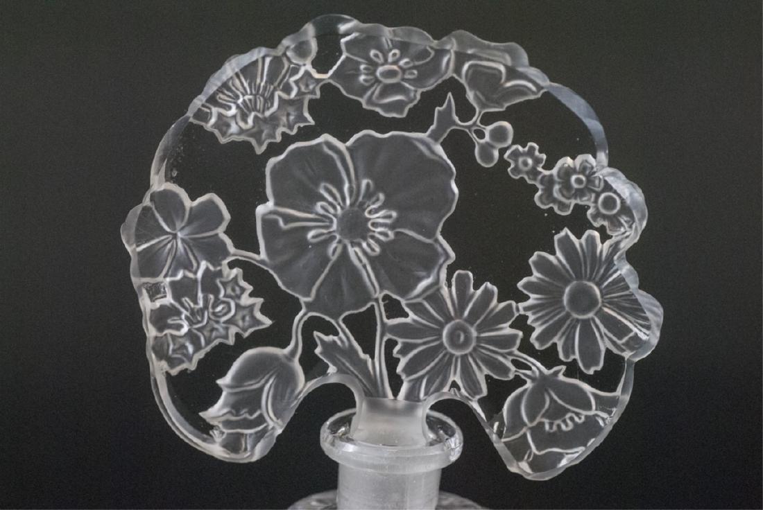 Antique Czechoslovakia Art Glass Perfume Bottle - 2