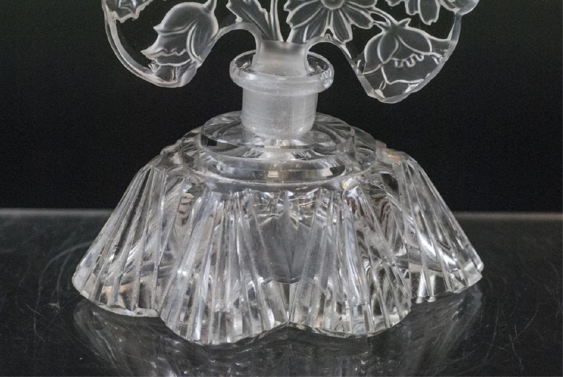 Antique Czechoslovakia Art Glass Perfume Bottle - 3
