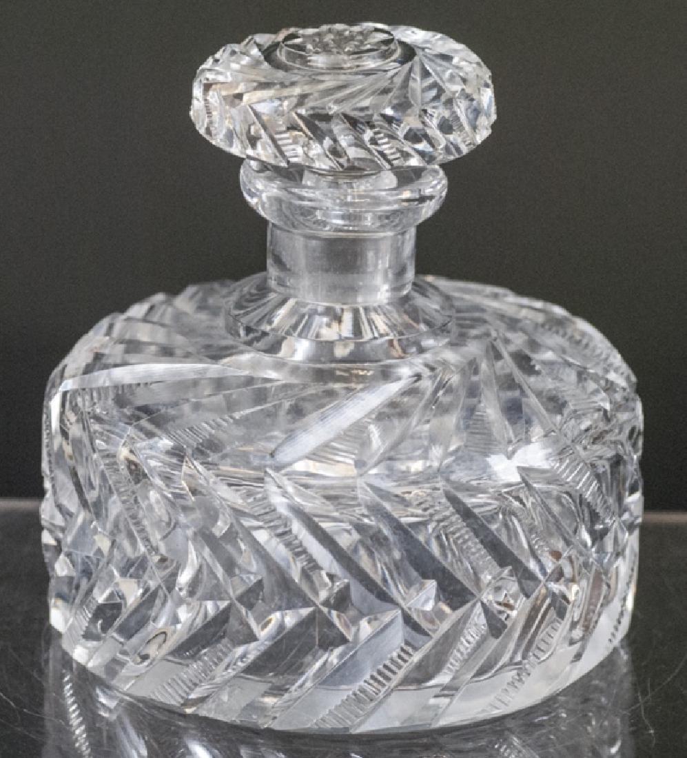 Antique Brilliant Cut Crystal Perfume Bottle