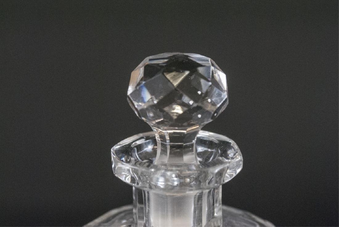 Pair Antique Brilliant Cut Crystal Perfume Bottles - 5