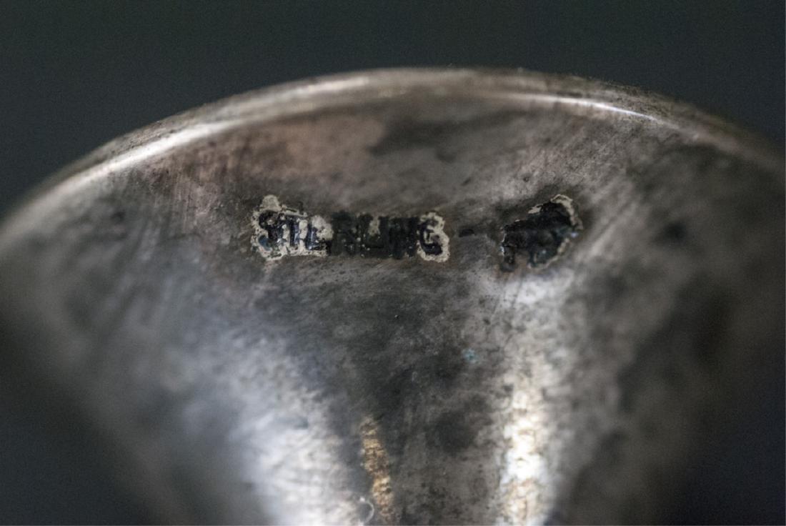 Antique Sterling Silver & Guilloche Enamel Perfume - 5