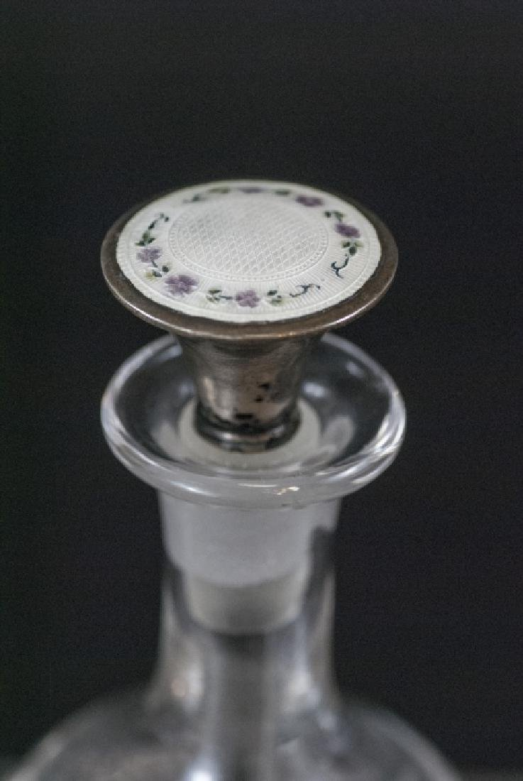 Antique Sterling Silver & Guilloche Enamel Perfume - 3