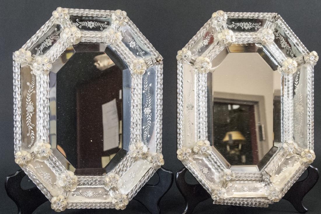 Pair of Vintage Italian Venetian Wall Mirrors