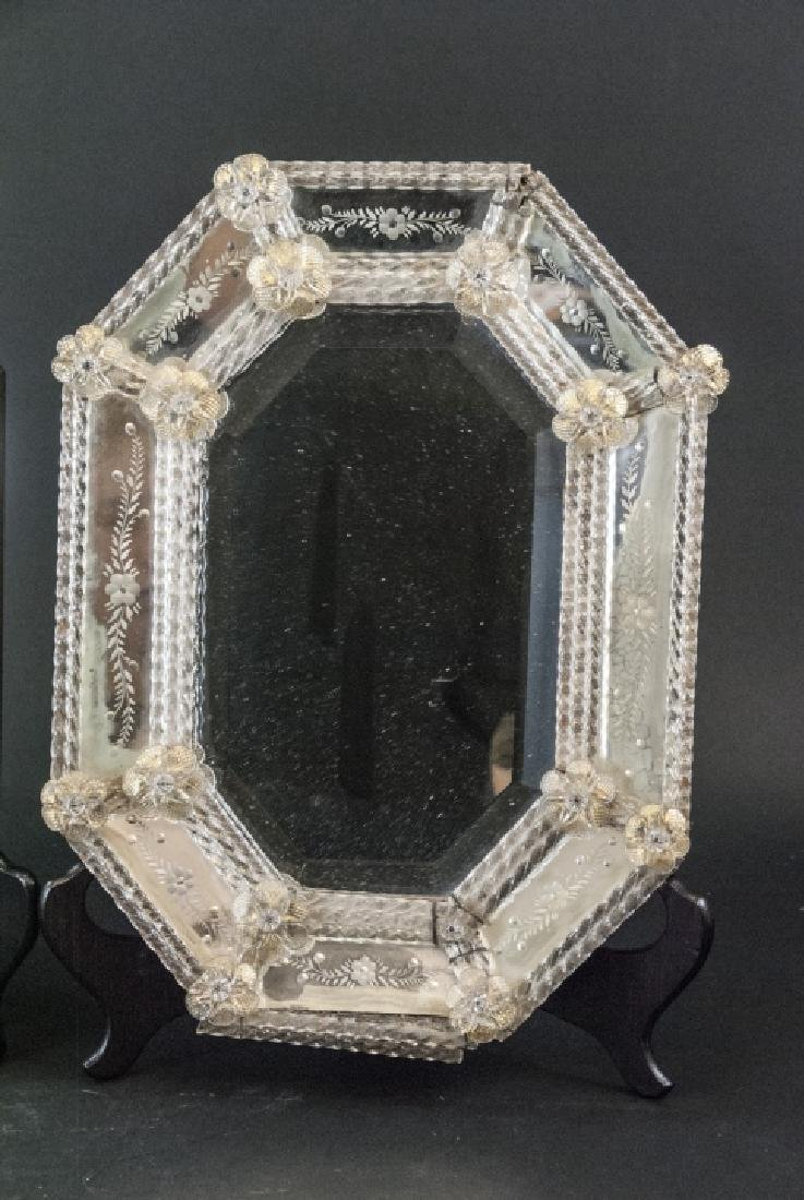 Pair of Vintage Italian Venetian Wall Mirrors - 3